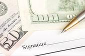 Podpisanie umowy — Zdjęcie stockowe