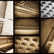 Stock Photo: Piano music collage