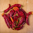 Red hot chilly peppers — Stock Photo #23356212