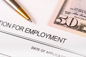 Application for employment — Foto Stock