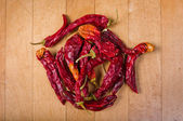 Red hot chilly peppers — Stock Photo