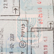 Stamps in an Israeli passport - Stock Photo