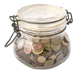 A jar full with coins — Stock Photo