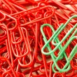 Stock Photo: Paperclips background