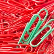 Paperclips background — Stock Photo