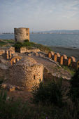 Fortress of old town Nessebar — Stock Photo