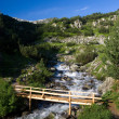 Stock Photo: Bridge over small river in Pirin mountains