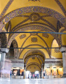 The interior of Aya Sofia museum in istanbul — Stock Photo