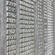 Wall of names — Stock Photo