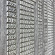 Wall of names — Stockfoto