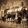 Stock Photo: Old Steam Locomotive
