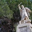 Stock Photo: Statue of prophet Elijah at Mukhrak- Israel