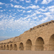 Ancient roman aquaduct - Stock Photo