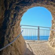 Royalty-Free Stock Photo: A cave exit at Rosh Hanikra