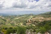 Golan tepeleri ve celile - kuzey i̇srail görünümü — Stok fotoğraf