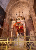 The Division of the rainment chapel in the Curch of the holy sepulchure — Stock Photo