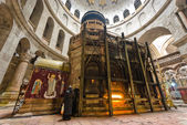 Crowds at the Church of the Holy Sepulchre — Stock Photo