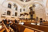 żydowskie modlitwy w synagodze hurwa — Zdjęcie stockowe
