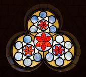 Decorative vitrage window at the Hurva synagogue - the old city — Stock Photo