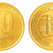 50 argentinian peso centavos coin - Stock Photo