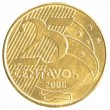 25 Brazilian real centavos coin - Foto de Stock
