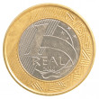 One Brazilian real coin — Stock Photo #23804531