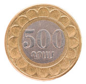 500 Armenian dollars coin — Stock Photo