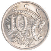 10 australian cents coin — Foto Stock