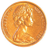 Australian dollar cents coin — Foto Stock