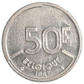 50 Belgian franc coin — Stock Photo