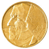 5 Belgian franc coin — Stock Photo