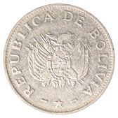 Bolivian boliviano coin — Stock Photo