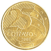 25 Brazilian real centavos coin — Stock Photo