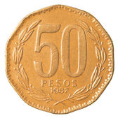 50 chilean pesos coin — Stock Photo