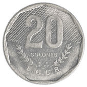 20 old costa rican colones coin — Stock Photo