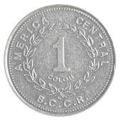 One Costa Rican Colon coin — Stock Photo