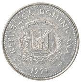 25 dominican republic peso centavos coin — Stock Photo