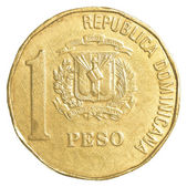 1 dominican republic peso coin — 图库照片