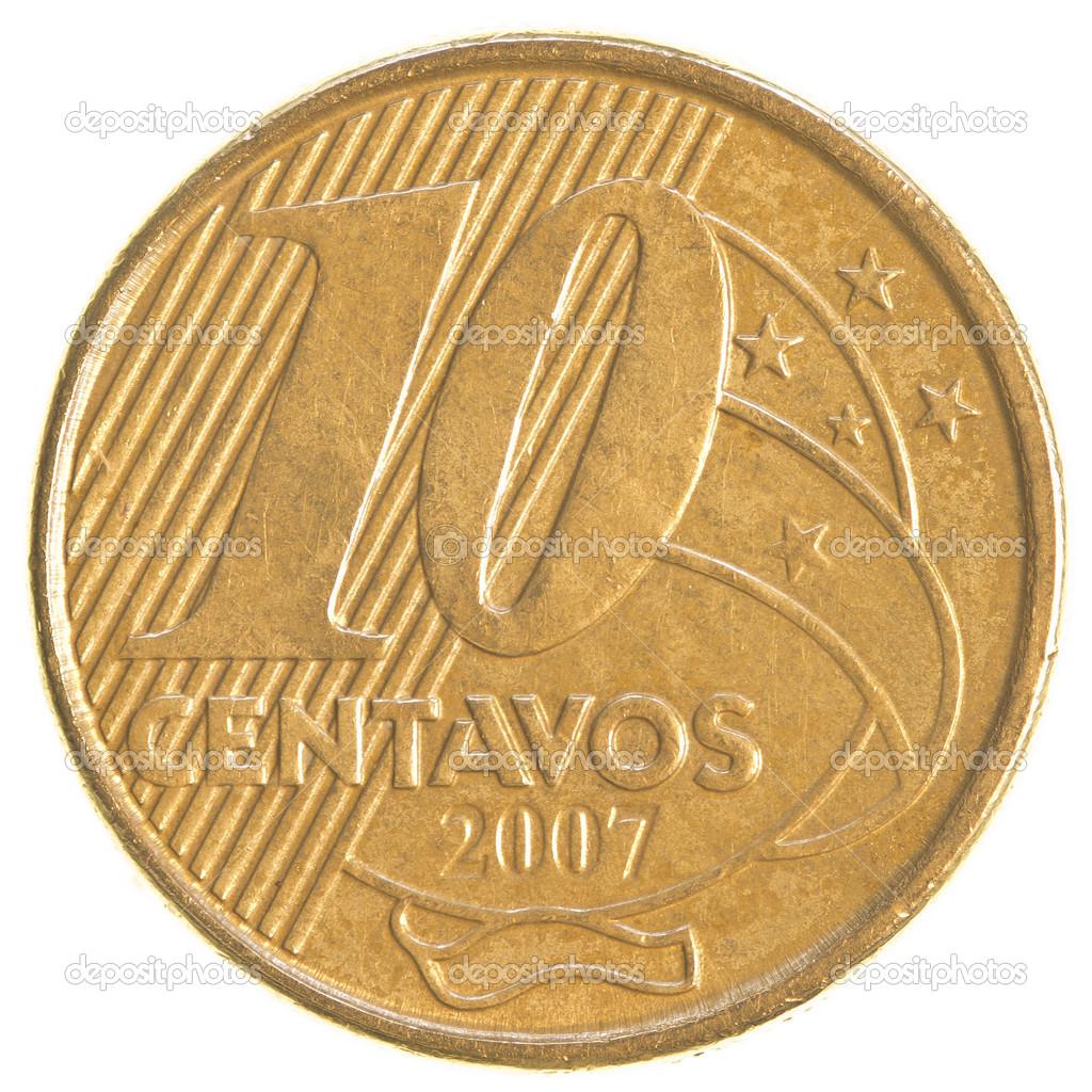 Moneda de Diez Centavos Moneda de 10 Centavos Reales