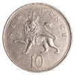 Stock Photo: 10 british pennies coin