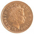Stock Photo: 2 british Pennies coin