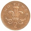 2 british Pennies coin — Stock Photo