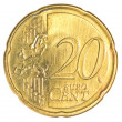 Twenty euro cents coin — Stock Photo