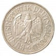 One german mark coin — Foto de Stock