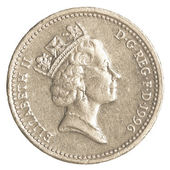 Een britse pond munt — Stockfoto