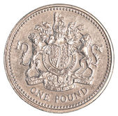 One british pound coin — Stockfoto