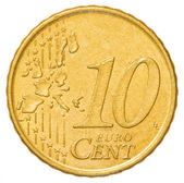 10 euro cents coin — Foto Stock