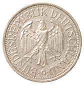 One german mark coin — Stock Photo
