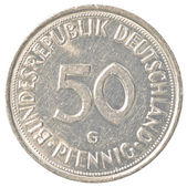 50 german mark pfennig coin — Stock Photo