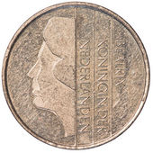 One dutch Guilder coin — Foto Stock